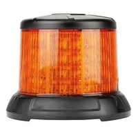 LED Beacon Micro Dual Stack Series 10-30V Amber Fixed Mount 64SMD LEDs 33W 10 Function SAE Class 1 112x85mm